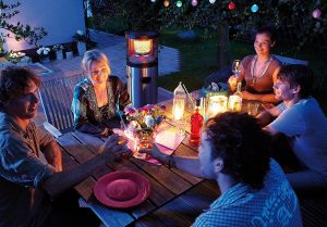 Radiant heater terrace